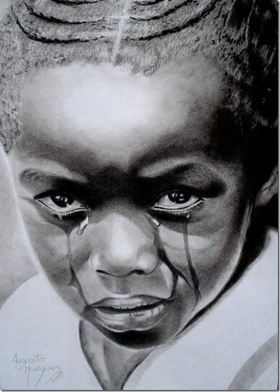 Augusto Marques - Menina em território Africano