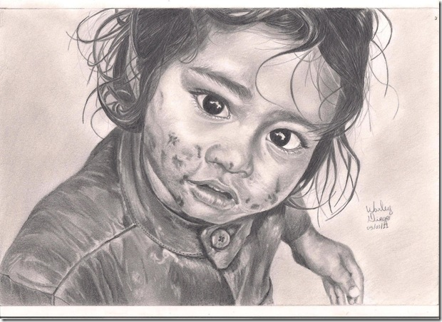 Warley Diego - criança indiana (Dalit)